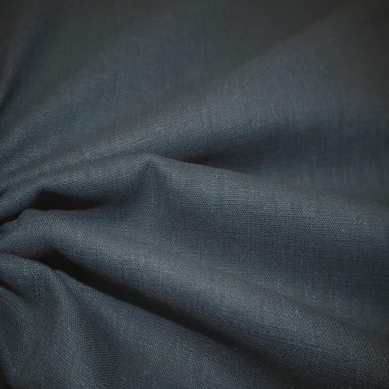 Toile de lin bleu jean's