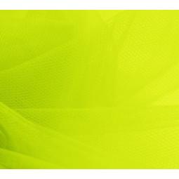 Pièce de tulle jaune fluo
