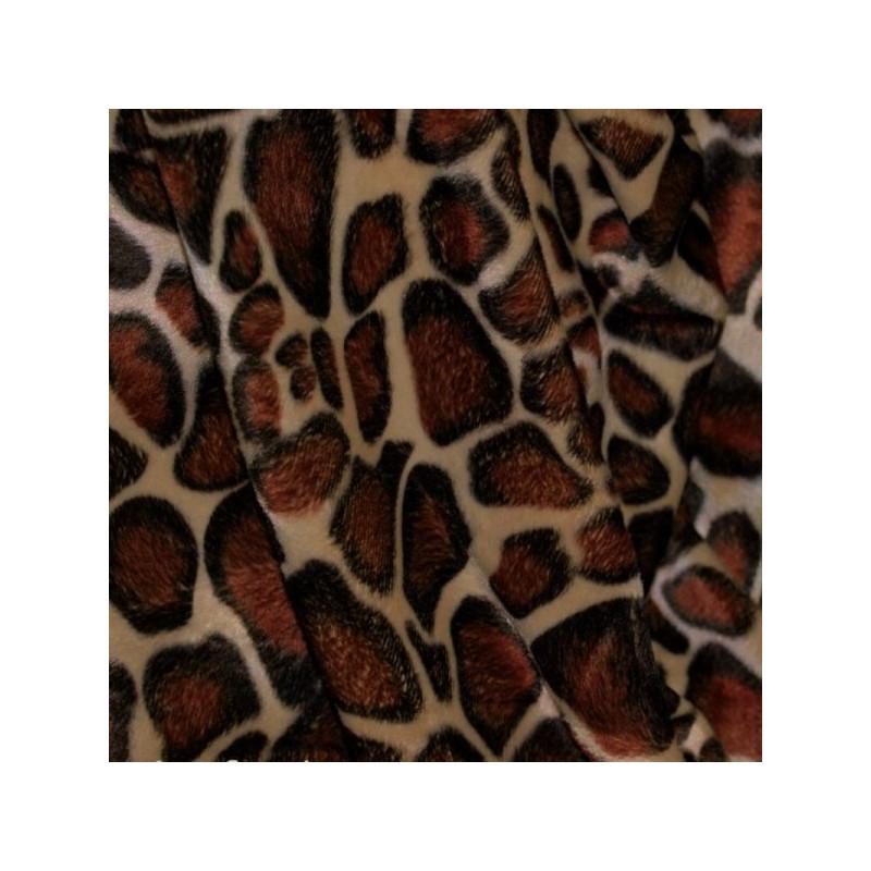 tissu imitation peau de b te tissu girafe pas cher fausse fourrure. Black Bedroom Furniture Sets. Home Design Ideas