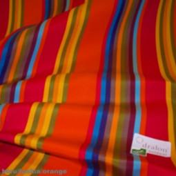 Tissu extérieur multico bleu/ fuchsia/orange