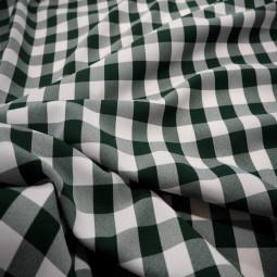 Vichy polyester vert bronze