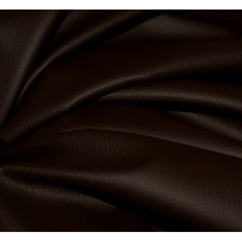 Simili-cuir granulé chocolat