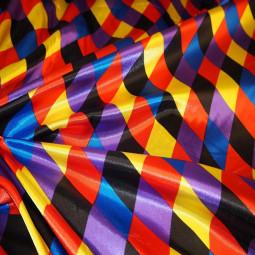 Tissu carnaval arlequin