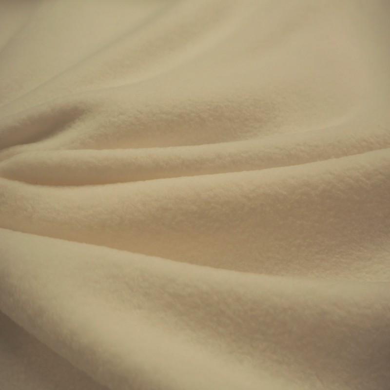 Tissu polaire écru