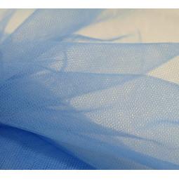 Pièce de tulle bleu