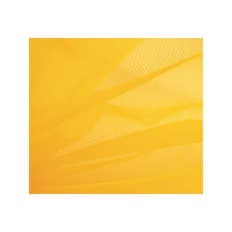Pièce de tulle jaune