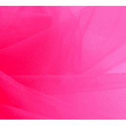 Pièce de tulle rose fluo