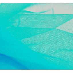 Pièce de tulle bleu turquoise