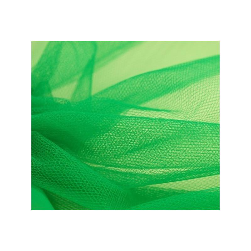 Pièce de tulle vert jardin