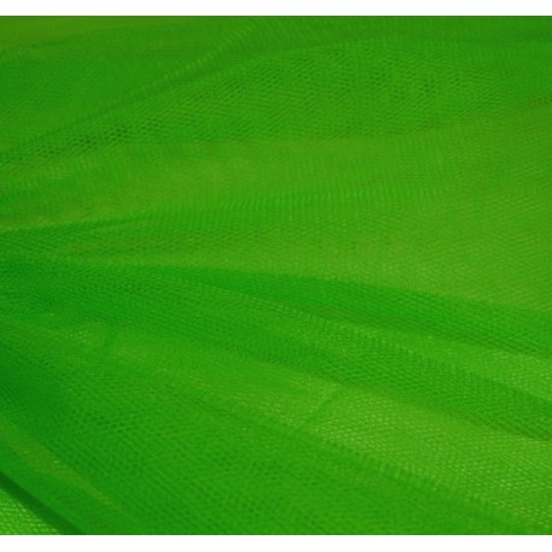 Pièce de tulle vert
