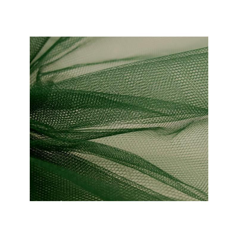 Pièce de tulle vert bronze