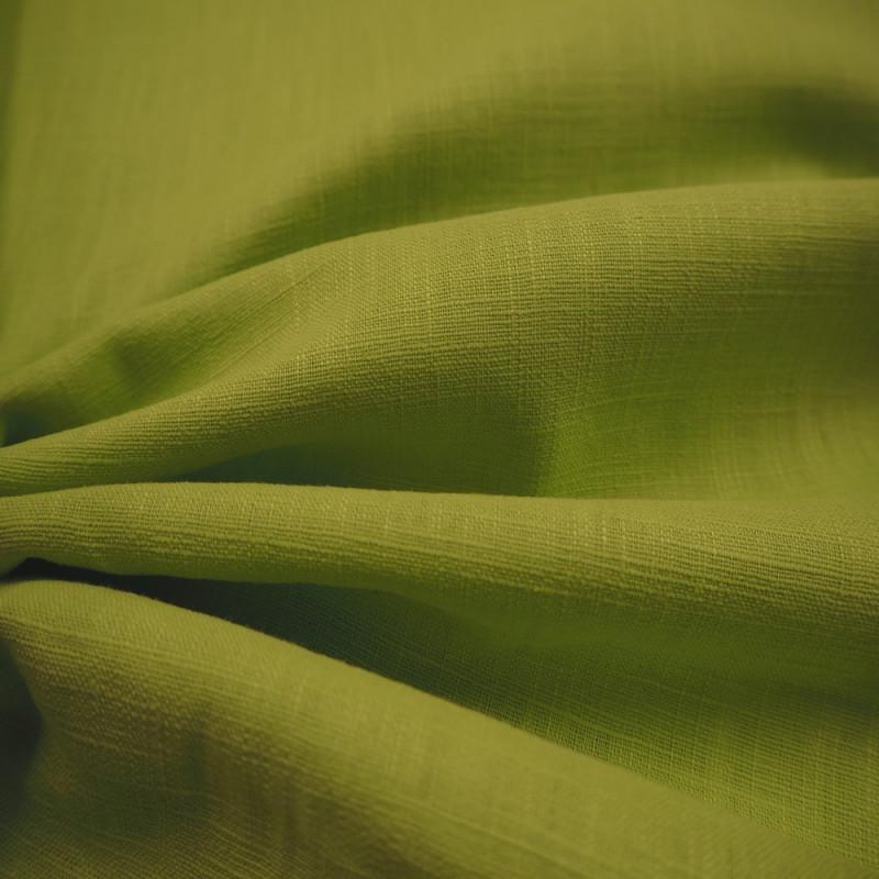Toile de lin vert anis