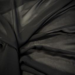 Tissu mousseline noire