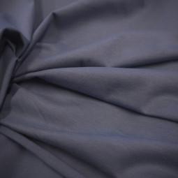 Tissu jersey uni bleu jean's