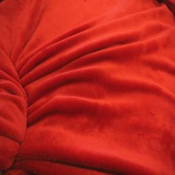 Tissu minky rouge