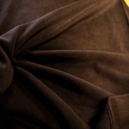 Tissu polaire chocolat