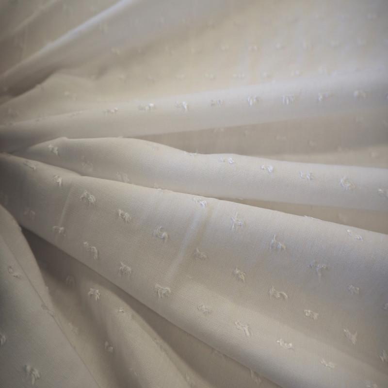 Tissu viscose /plumetis uni