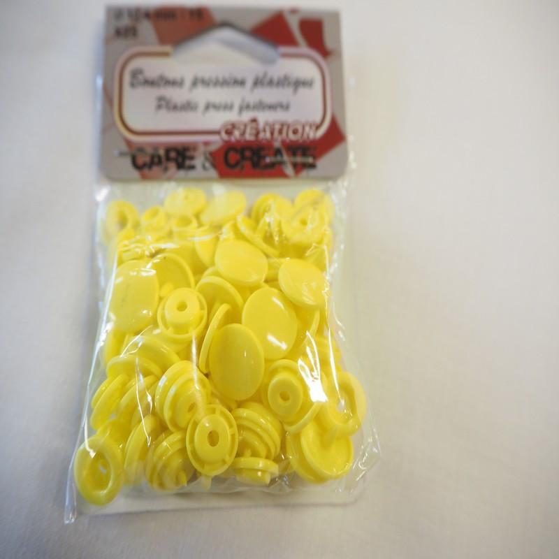 Boutons pressions plastique jaune