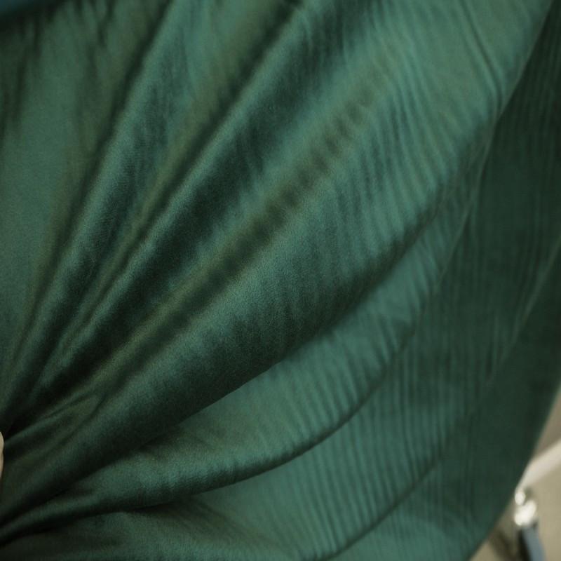 Tissu velours vert bronze