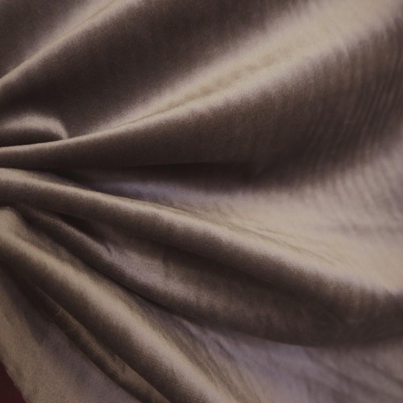 Tissu velours taupe
