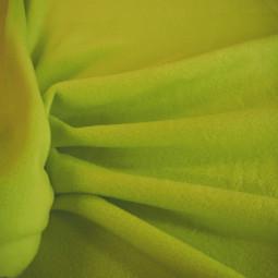Tissu polaire vert anis