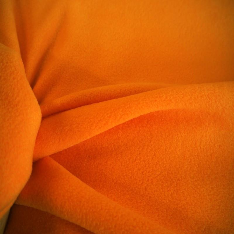 Tissu polaire orange