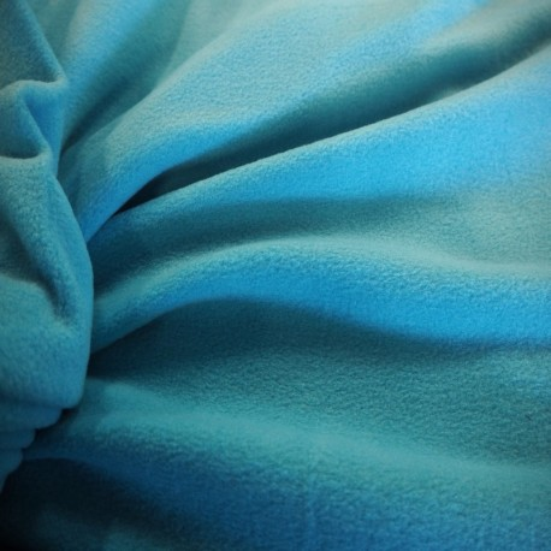 Tissu polaire turquoise