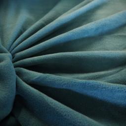 Tissu polaire bleu canard