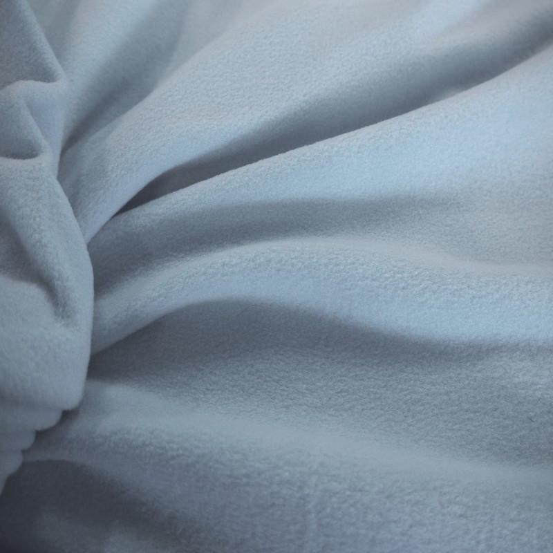 Tissu polaire bleu ciel