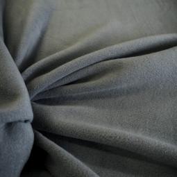 Tissu polaire gris bleuté