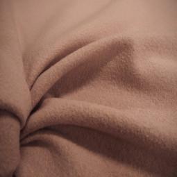 Tissu laine bouillie rose poudré
