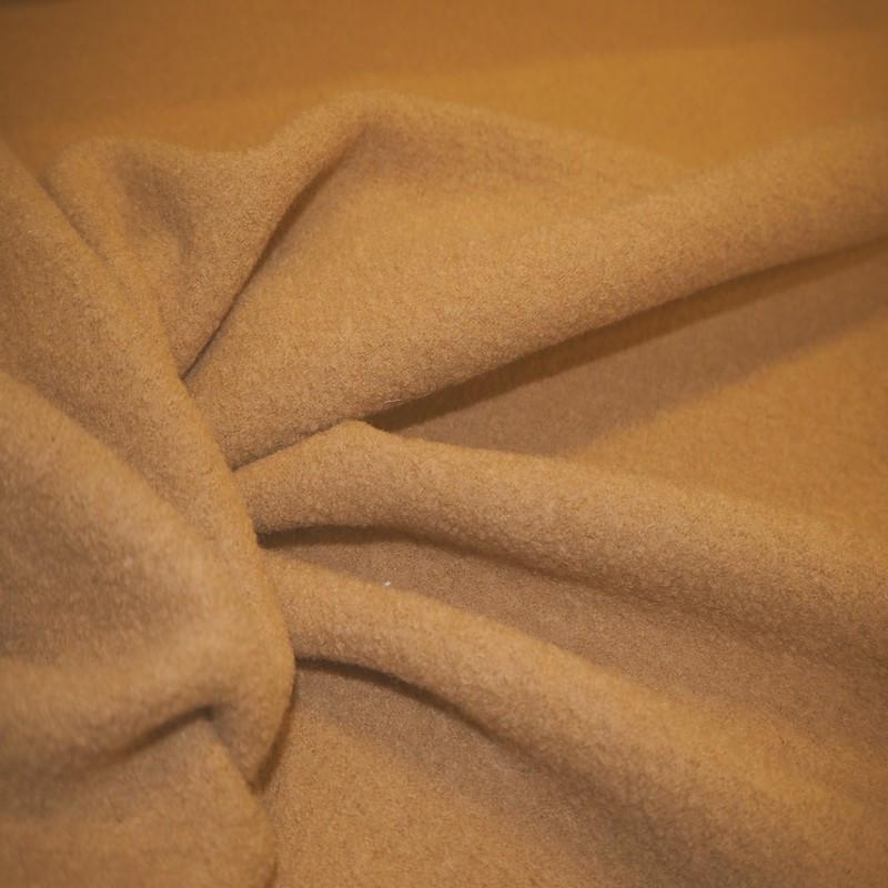 Tissu laine bouillie beige