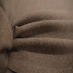 Tissu laine bouillie taupe