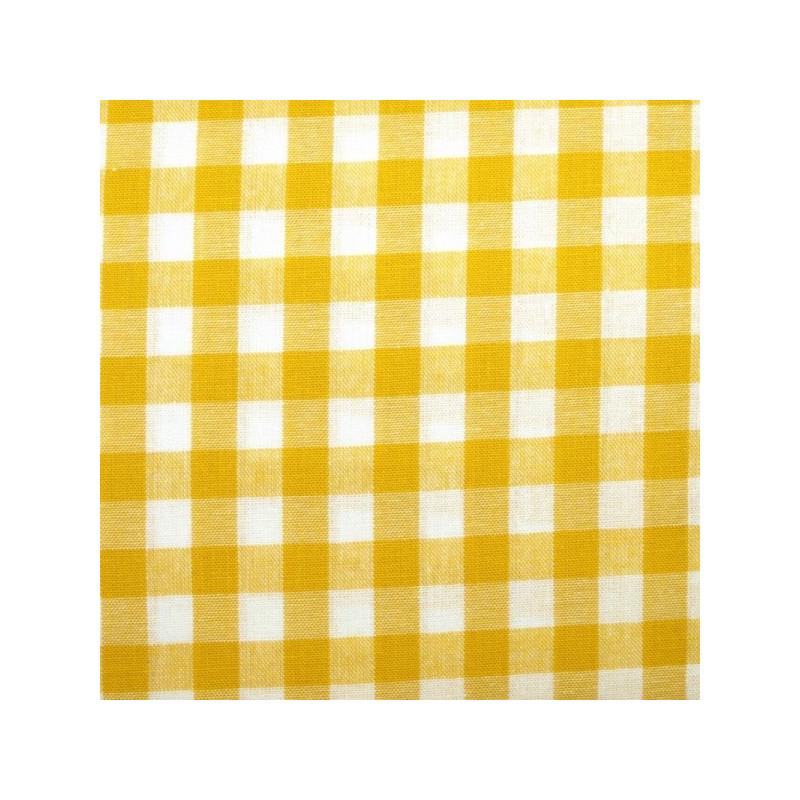 Tissu vichy moyen carreaux  jaune