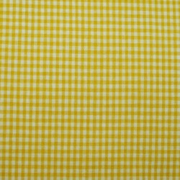 Tissu vichy petits carreaux jaune