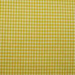 Tissu vichy petit carreaux  jaune