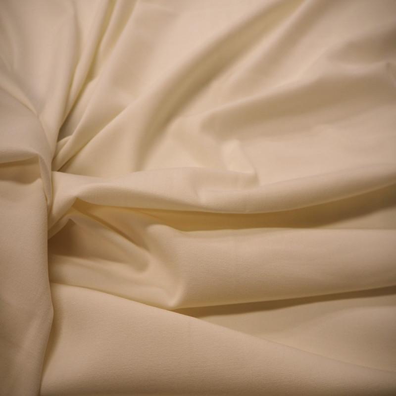 Tissu polyester écru