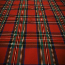 Tissu écossais rouge
