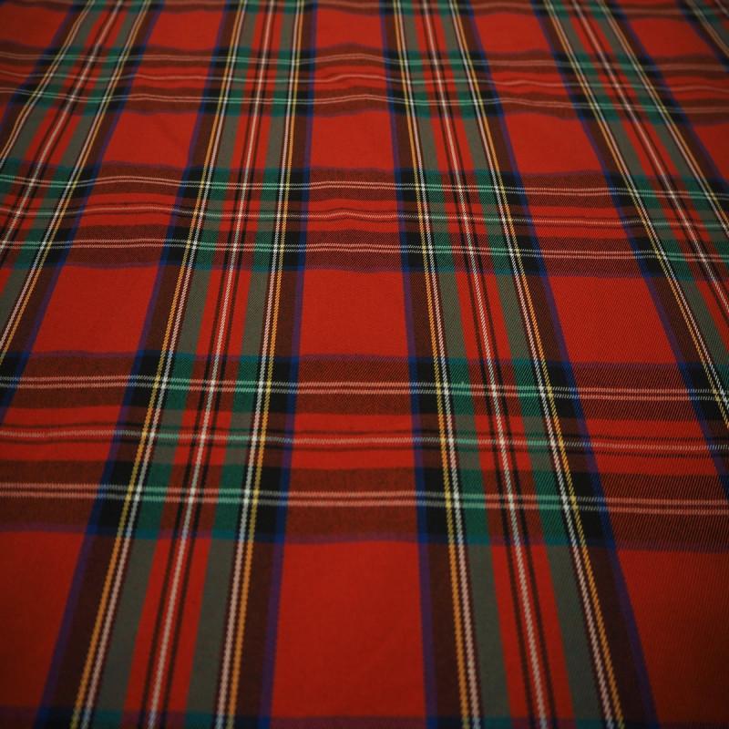 Tissu écossais grands carreaux rouge