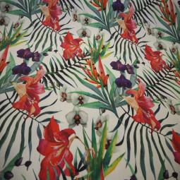 """Tissu exterieur imprimé """" Orchidée"""""""