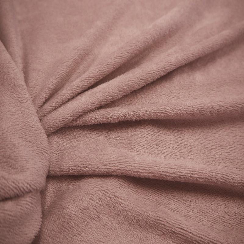 Tissu bambou éponge rose poudré