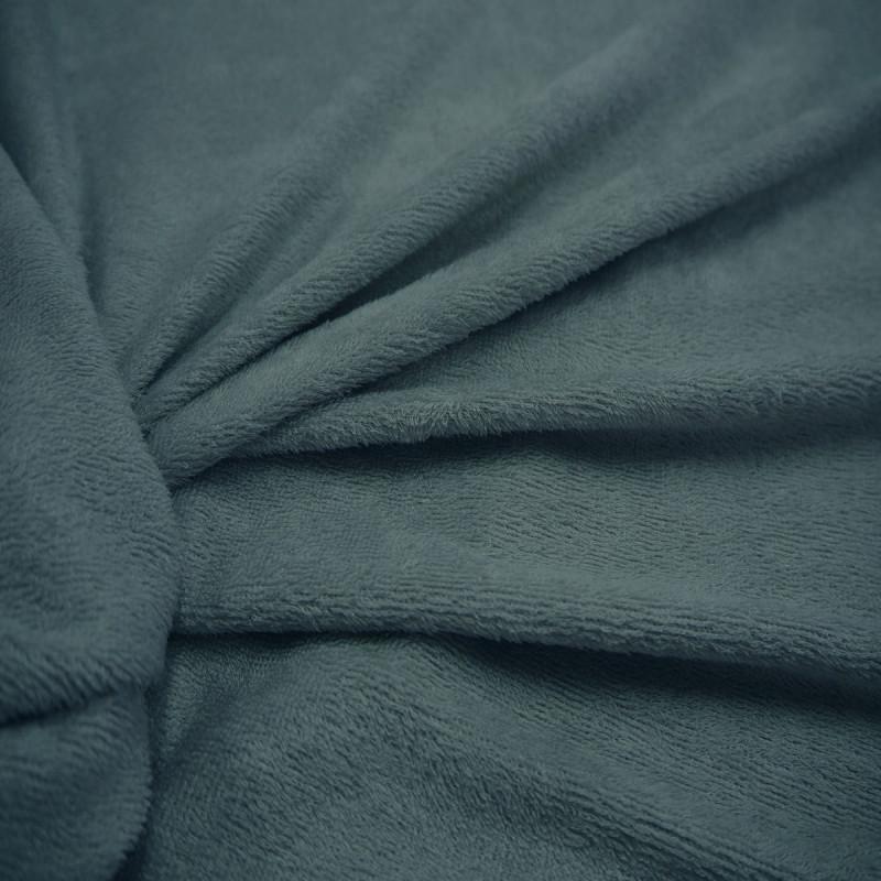 Tissu bambou éponge bleu canard