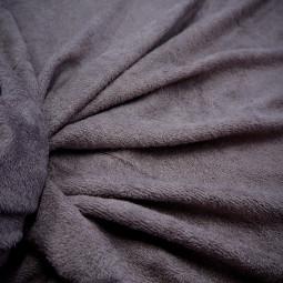 Tissu bambou éponge gris anthracite