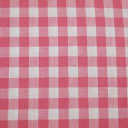 Tissu vichy moyen carreaux rose foncé