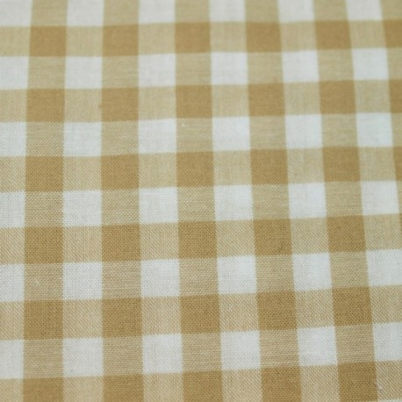 Tissu vichy moyen carreaux écru