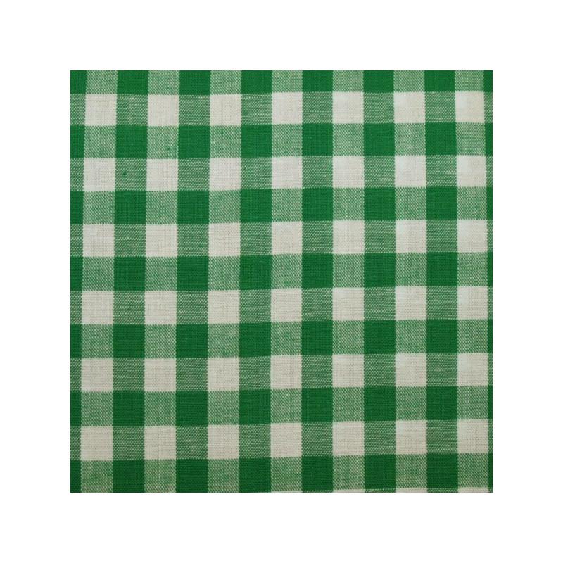 Tissu vichy moyen carreaux  vert cru