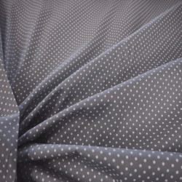 Tissu coton gris à petits pois