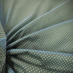 Tissu coton vert pâle à petits pois