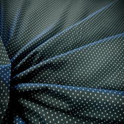 Tissu coton vert bronze à petits pois