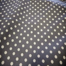 Tissu coton gris moyen / blanc